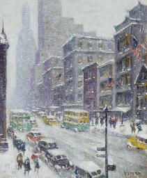 Fifth Avenue on Christmas Eve
