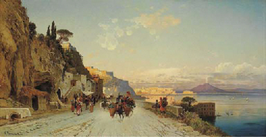 Naples from the via Posillipo,