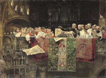 The choir of St. Mark's, Venic