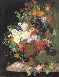 Lillies, convolvuli, carnation