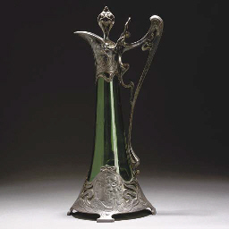 A WMF SILVERED METAL AND GREEN