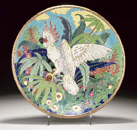 A LONGWY POTTERY CHARGER