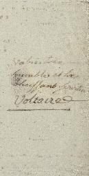 FRANCOIS MARIE AROUET DE VOLTAIRE (1694-1778)