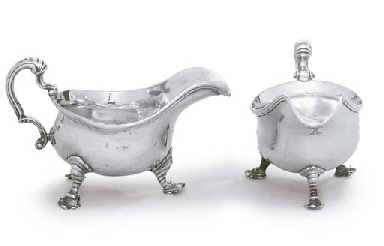 TWO GEORGE III SILVER SAUCEBOATS