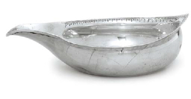 A GEORGE III SILVER PAP-BOAT