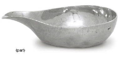 TWO GEORGE III SILVER PAP-BOAT