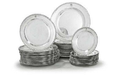 A SILVER-PLATED PART DINNER-SE