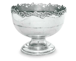 AN EDWARD VII SILVER ROSE-BOWL