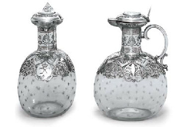 A PAIR OF VICTORIAN SILVER-MOU