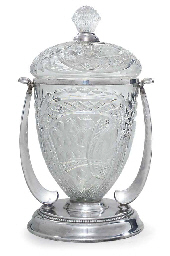 A GERMAN SILVER PLATE-MOUNTED