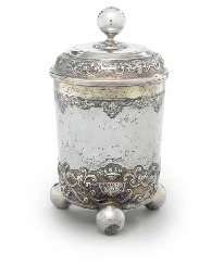 A GERMAN PARCEL-GILT SILVER BE