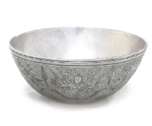A NIELLOED SILVER BOWL