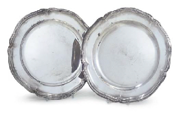A PAIR OF DANISH SILVER SECOND