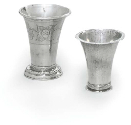 A PAIR OF SWEDISH SILVER BEAKE