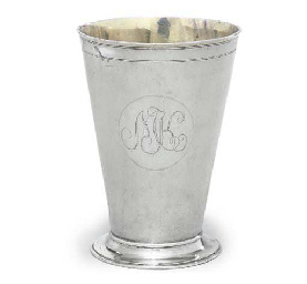 A CONTINENTAL SILVER BEAKER