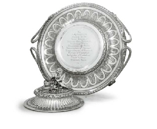 A DANISH SILVER TUREEN STAND A