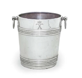 A SILVER-PLATED ICE-BUCKET