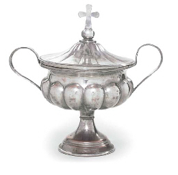 A RUSSIAN SILVER-PLATED VESSEL