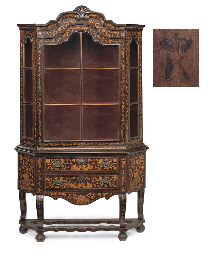 A DUTCH FLORAL-MARQUETRY AND R