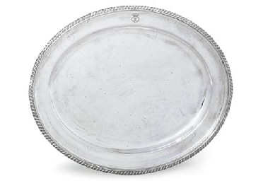 A SILVER-PLATED MEAT-DISH