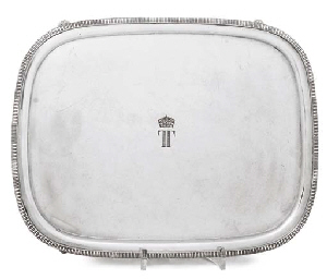 A SILVER PLATED SALVER