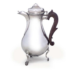 A CONTINENTAL SILVER COFFEE-PO