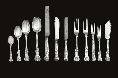 A MIXED LOT OF VICTORIAN SILVE