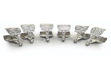FOUR FRENCH SILVER PLATED SAND