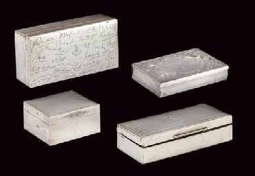 THREE SILVER CIGARETTE BOXES