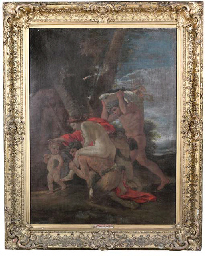 Nymph, satyr, faun and cupids