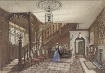 Interior of a gothic house