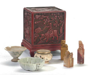 AN ASSORTED GROUP OF CHINESE AND JAPANESE TABLE ARTICLES**, ...