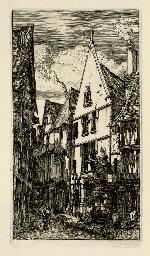 La Rue des Toiles, à Bourges (