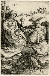 Nobleman and Lady seated in a