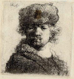 Self-Portrait in a heavy Fur C