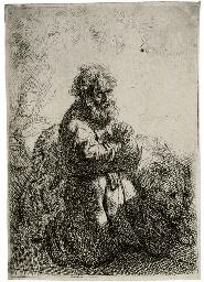 St. Jerome kneeling in Prayer,