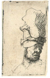 Head of a Man in a high Cap (B