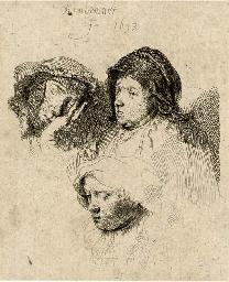 Three Heads of Women: one asle