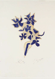 Giroflée bleue, from Lettera A