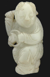 A Chinese pale celadon jade fi