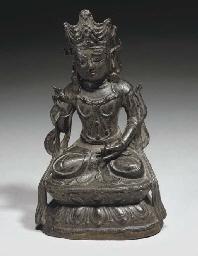 A Chinese bronze Bodhisattva,