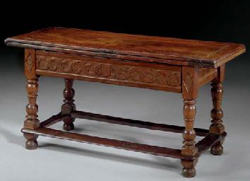 A SWISS WALNUT REFECTORY TABLE