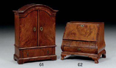 AN EARLY GEORGIAN WALNUT MINIA