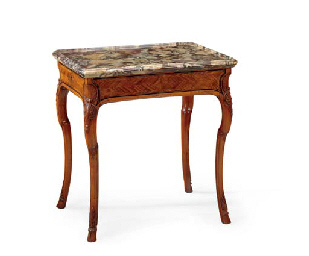 A LOUIS XV FRUITWOOD AND LINE-
