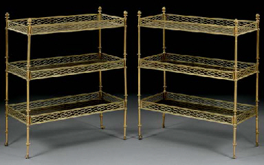 A PAIR OF FRENCH ORMOLU AND ST
