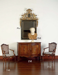 A WHITE AND SIENA MARBLE BUST