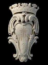 AN ITALIAN WHITE MARBLE CARTOU