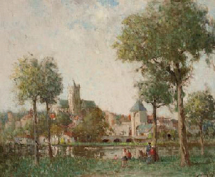 Rural village scene