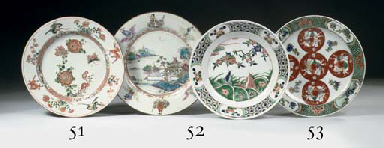 A famille verte plate, a famil