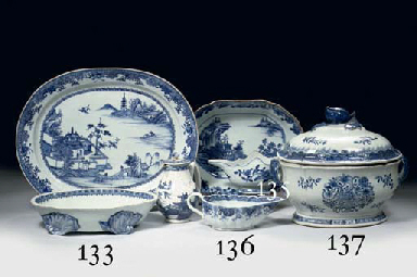 An assorted lot of blue and white porcelain